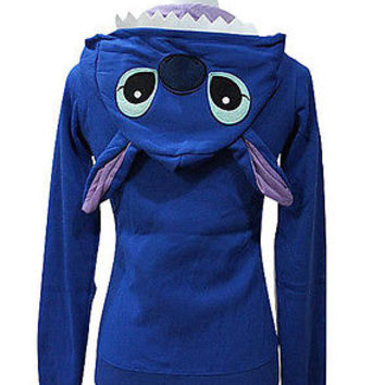 Disney Hoodie Japan Anime Stitch Zips Long Sleeve Hoodies Jacket Top Coat S-XXXL