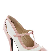 Speakeasy Does It Heel in Blush | Mod Retro Vintage Heels | ModCloth.com