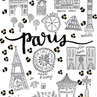 Cheetah Print Maps, Paris & NYC, Limited Edition