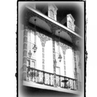 Black and White Fine Art, Lace Balcony, 11x14 Photograph, Architecture Art, New Orleans French Quarter Print