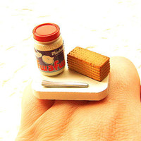 Marshmallow Fluff Cream Honey Crackers Ring by SouZouCreations