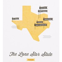 These Are Things 'State Maps' Wall Art