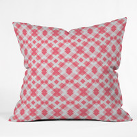 Lisa Argyropoulos Pink Peppermint Twist Throw Pillow
