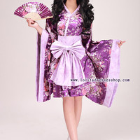 Purple V-Neck Long Sleeve With Bowknot Cosplay Lolita Dress