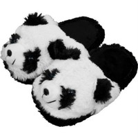 Body Trends Cuddlee Slippers - Panda Bear - Size L - Ages 10-12