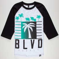 BLVD SUPPLY My City Mens Baseball Tee
