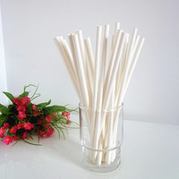 Solid White Paper Straws 50ct Biodegradable Party Drinking Straws Wedding Birthday Bridal Baby Shower DIY Straws Flag