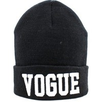 Soyagift Vogue Beanie Hat Black Knit Beanie unsex hiphoop warm ski knit winter women men's cool hat HT3
