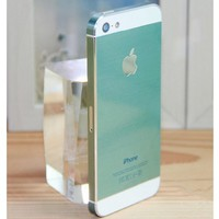 IMAGE® Full Body vinyl Wrap Decal Sticker Protector Skin kit Color Luxury Blue for iPhone 5 5S