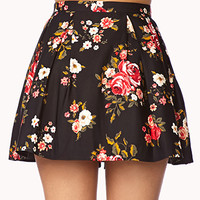 Fancy Floral Box Pleated Skirt