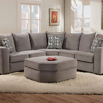 Roxanne Grey 2 Pc. Sectional - Sectionals - Living Room - mobile