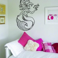 Mermaid Version 2 Decal Sticker Wall Vinyl Art Ocean Girl