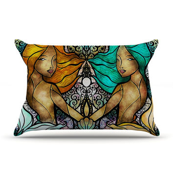 "Mandie Manzano ""Mermaid Twins"" Pillow Case"