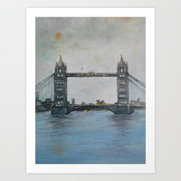 Tower Bridge - London Art Print by  RokinRonda