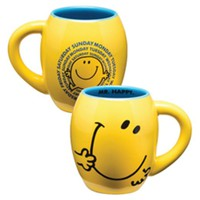 "Mr. Men Little Miss ""Mr. Happy"" 18 oz. Oval Ceramic Mug"