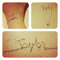 Customized silver name bracelet