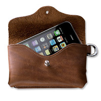 Leather Smartphone Holder / Genuine Leather Phone Case -- Orvis