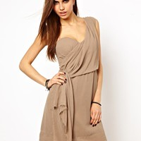 Religion One Shoulder Drape Dress