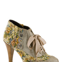 Poetic License Mix and Match Heel in Taupe | Mod Retro Vintage Heels | ModCloth.com