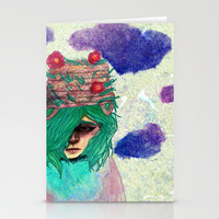 Basket Hat Woven Stationery Cards by Ben Geiger