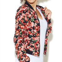 Floral Bomber Jacket | Wet Seal