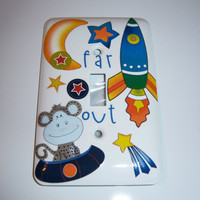 Space monkey light switch cover