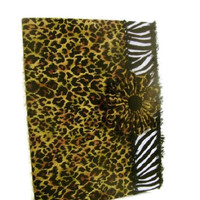 Leopard and Zebra Fabric Covered Journal