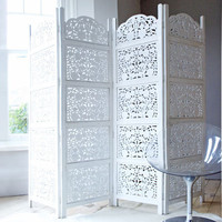 Hand Carved Wooden Decorative Screen, Beds | Graham and Green Bedroom