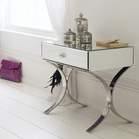 Barcelona Mirrored Side Table, Bedside Tables | Graham and Green Bedroom
