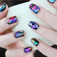 DIY Wrap Transfer Paper Glitter Foil Sticker Nail Art