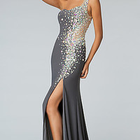 Floor Length One Shoulder JVN by Jovani Dress