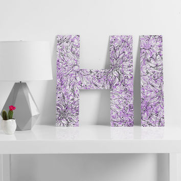 Lisa Argyropoulos Angelica Purple Decorative Letters