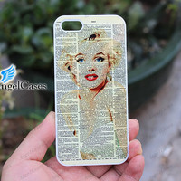 Marilyn Monroe iphone 5C case colorful designer art iphone 5s case iphone 4 case iphone 5 case custom iphone 4s case make your own #A091