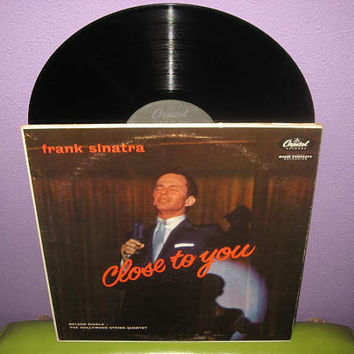 Vinyl Record Album Frank Sinatra - Close To You LP 1957 Crooner Vocals Rat Pack Mad Men