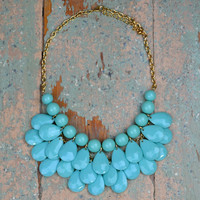 Bayswater Mint Beaded Teardrop Necklace