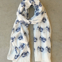Navy Lobster Print Scarf [4957] - $21.00 : Vintage Inspired Clothing & Affordable Dresses, deloom | Modern. Vintage. Crafted.