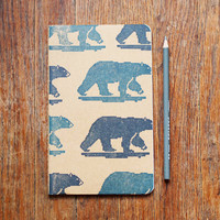Polar Bear journal large moleskine sketch 8 bit notebook