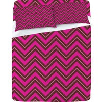 Caroline Okun Chocolate Chevron Sheet Set