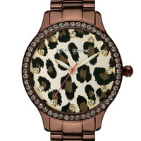 Women's Chocolate Colored Leopard Watch | Lord and Taylor