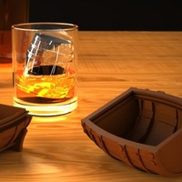 Whiskey Barrel Ice Mold