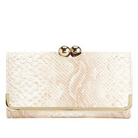 SNAKESKIN KISS-LOCK WALLET