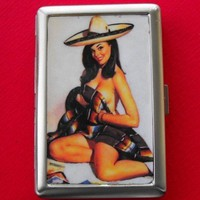 SEXY SENORITA PINUP ID CIGARETTE CASE  CP124 by dnacreations