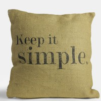 Keep It Simple Jute Pillow