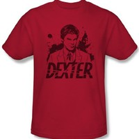 Dexter Shirt Splatter Adult Red T-shirt Tee