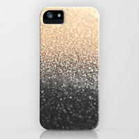 GATSBY BLACK GOLD iPhone & iPod Case by Monika Strigel