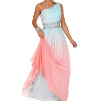 Pre-OrderCleo-Light BluePink Ombre Prom Dress