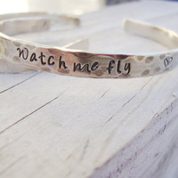 Watch me fly silver shiny cuff Inspiration