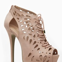 Wild Diva Nude Lace Up Mystical Peep Toe Bootie @ Cicihot Heel Shoes online store sales:Stiletto Heel Shoes,High Heel Pumps,Womens High Heel Shoes,Prom Shoes,Summer Shoes,Spring Shoes,Spool Heel,Womens Dress Shoes,Prom Heels,Prom Pumps,High Heel Sandals