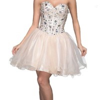 Faironly Champagne Homecoming Prom Dress P102