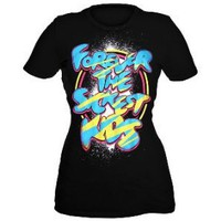 Forever The Sickest Kids Blue And Yellow Girls T-Shirt Plus Size